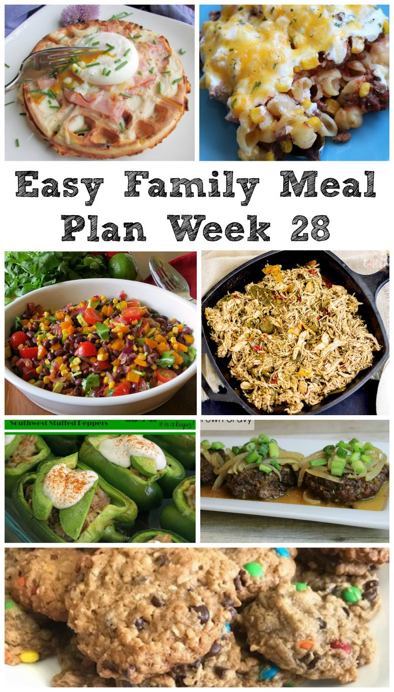 Easy Family Dinners  Cooking With Carlee Easy Family Meal Plan Week 28