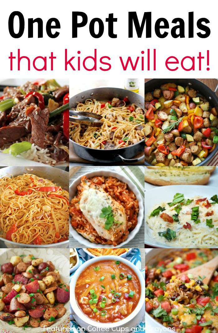 Easy Family Dinners  Kid Friendly e Pot Meals Good Eats Pinterest