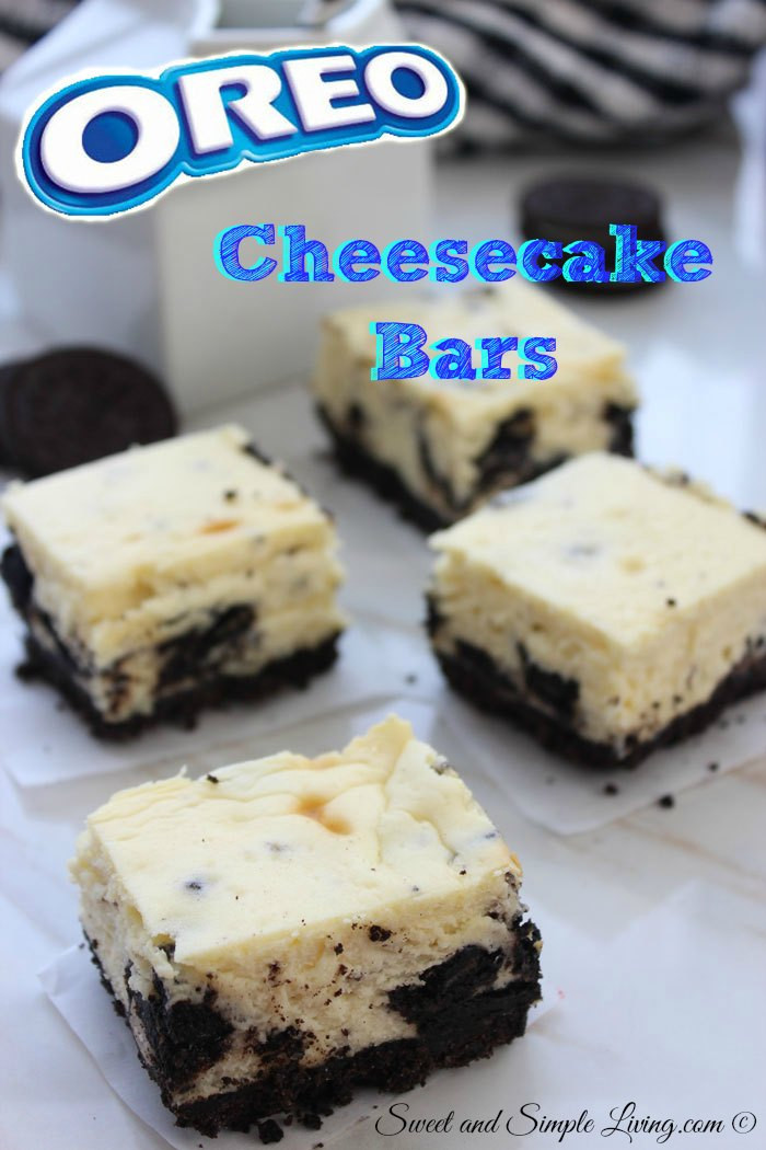 Easy Fast Desserts  Oreo Cheesecake Bars 7 Ingre nts for a Quick Dessert