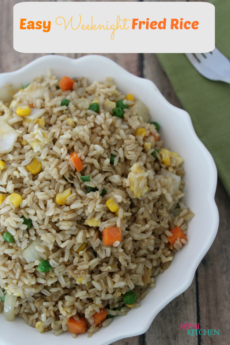 Easy Fried Rice  Easy Weeknight Fried Rice