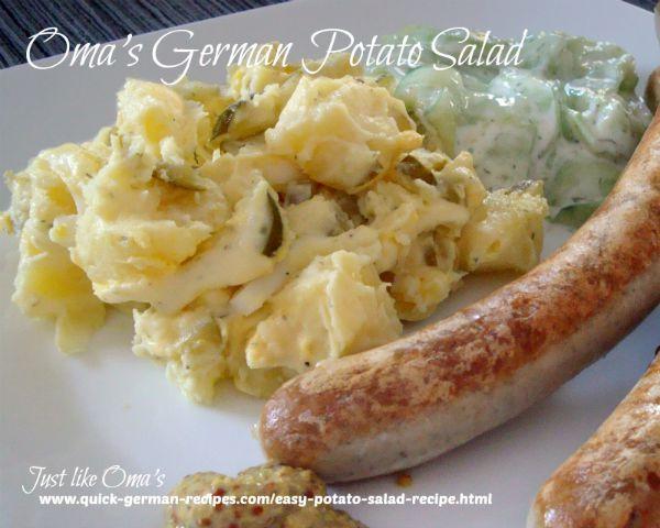 Easy German Potato Salad  How to Cook Sausage Just like Oma