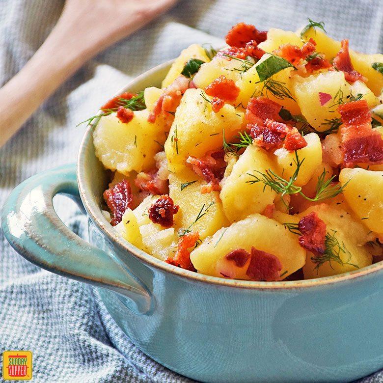 Easy German Potato Salad  Authentic German Potato Salad SundaySupper