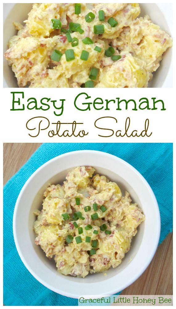 Easy German Potato Salad  Easy German Potato Salad Graceful Little Honey Bee
