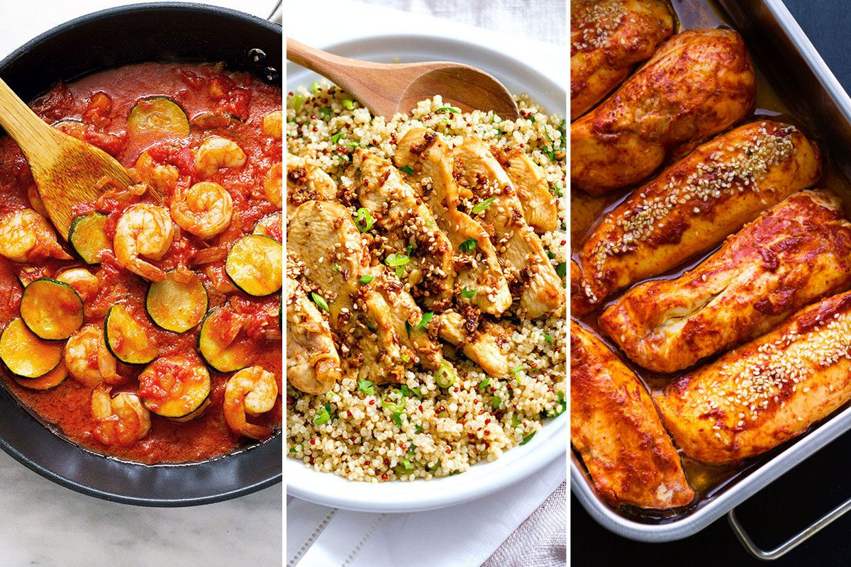 Easy Healthy Dinner  Healthy Dinner Recipes 22 Fast Meals for Busy Nights