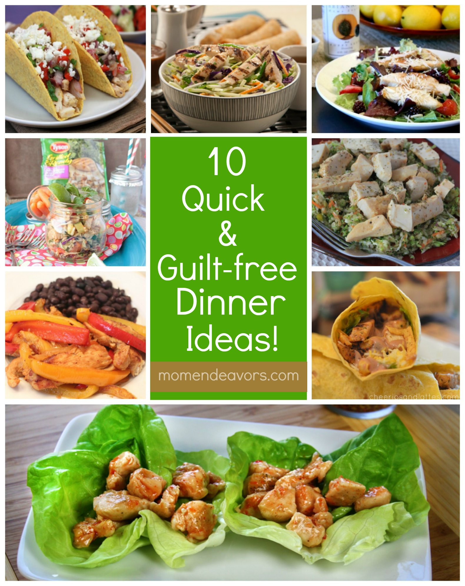 Easy Healthy Dinner Ideas  10 Quick & Guilt Free Dinner Ideas with Tyson Grilled