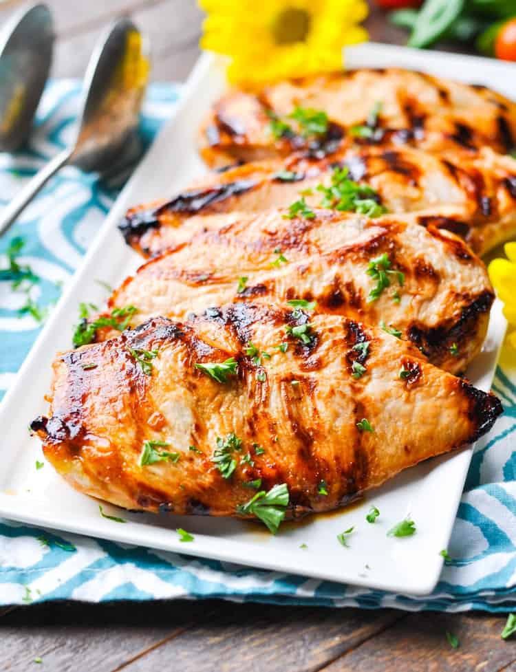 "Easy Healthy Dinner Recipes  ""No Work"" Marinated Chicken The Seasoned Mom"