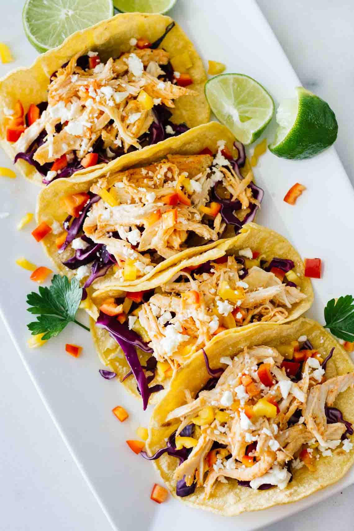 Easy Healthy Dinner Recipes  Healthy Sriracha Shredded Chicken Tacos Jar Lemons