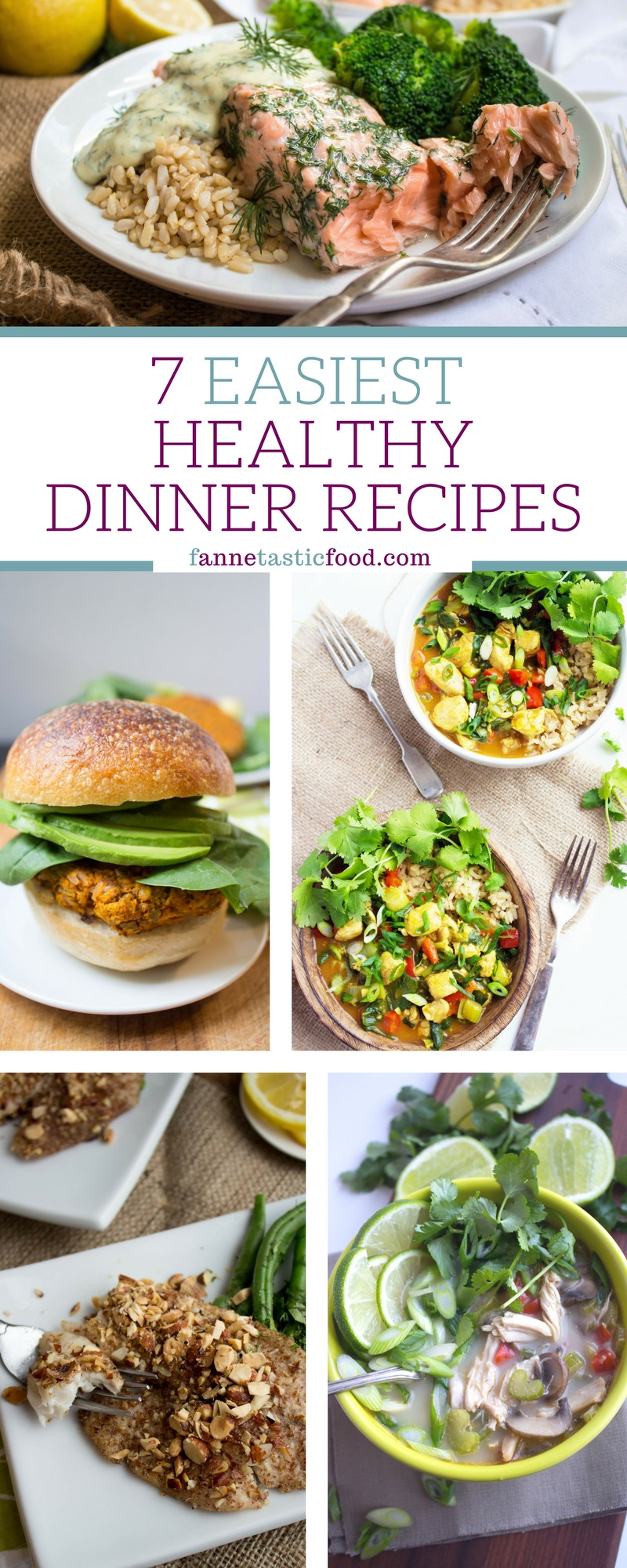 Easy Healthy Dinner Recipes  Really easy healthy dinner recipes Food easy recipes