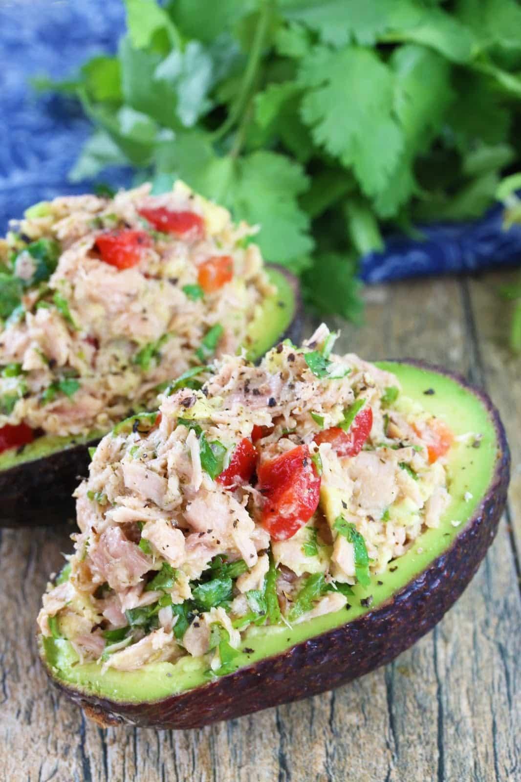 Easy Healthy Dinner Recipes  Healthy Thai Tuna Stuffed Avocado