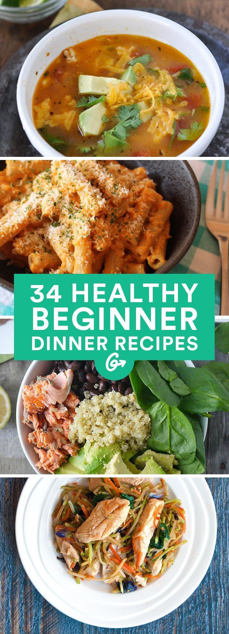 Easy Healthy Dinner Recipes  100 Healthy Dinner Recipes on Pinterest