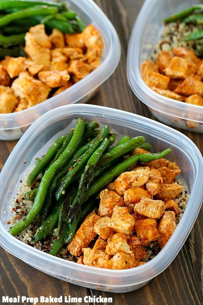 Easy Healthy Dinner  Meal Prep Baked Lime Chicken Bowls Yummy Healthy Easy