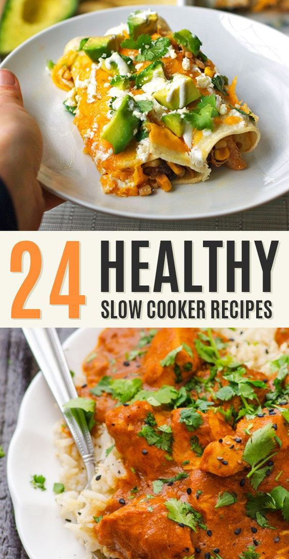 Easy Healthy Slow Cooker Recipes  Healthy crockpot recipes Slow cooker chicken and Chicken