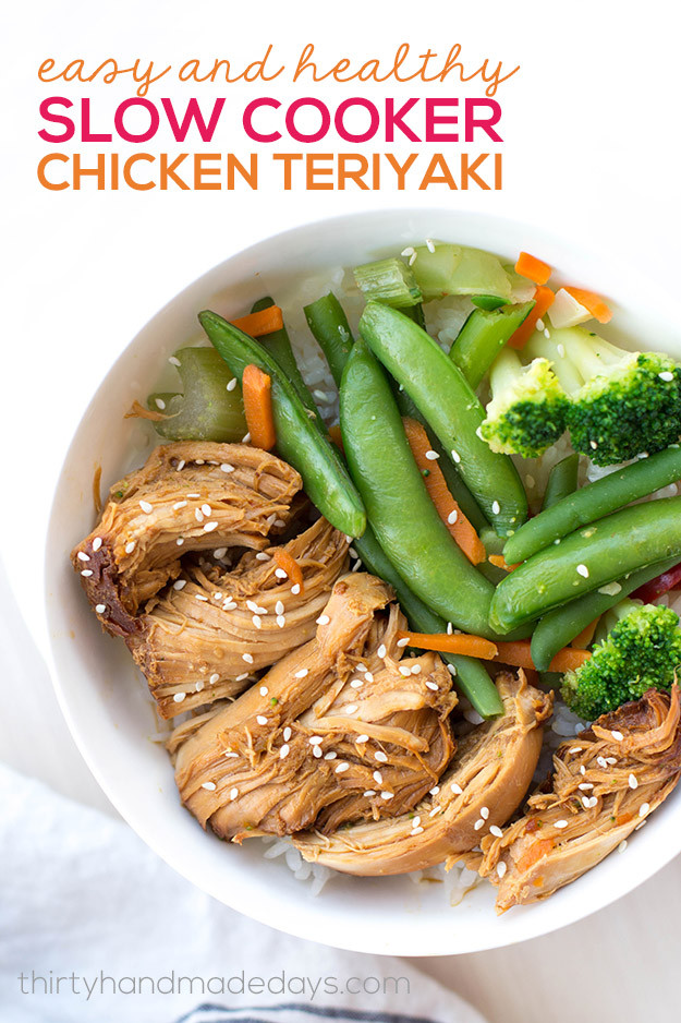 Easy Healthy Slow Cooker Recipes  Slow Cooker Chicken Teriyaki