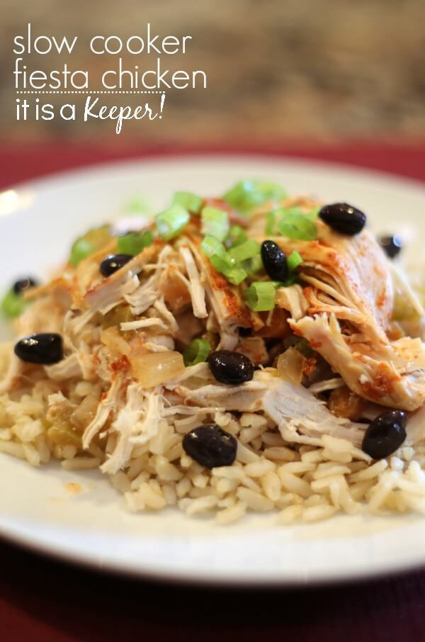Easy Healthy Slow Cooker Recipes  Slow Cooker Fiesta Chicken