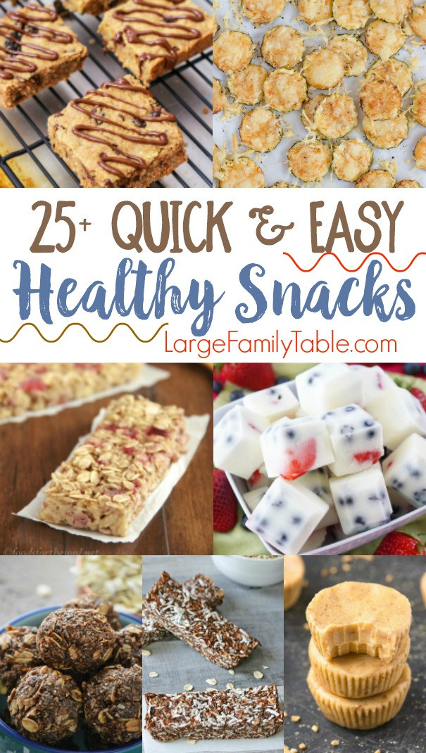 Easy Healthy Snacks On The Go  25 Quick & Easy Healthy Snack Recipes Jamerrill Stewart