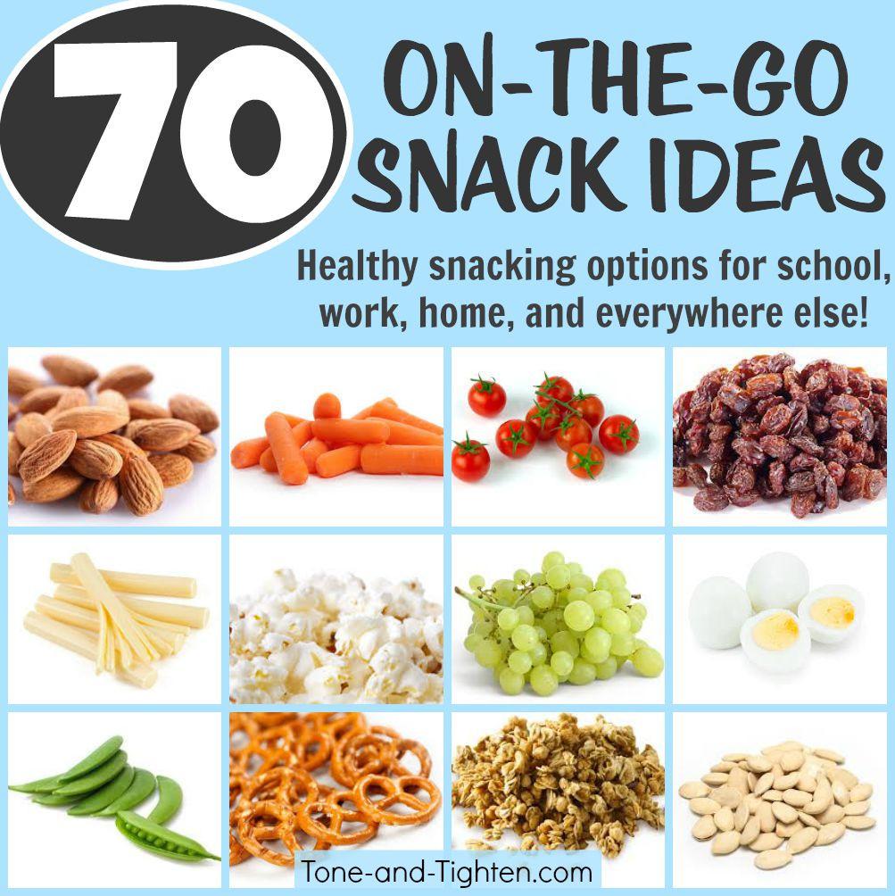 Easy Healthy Snacks On The Go  70 Portable Healthy Snacks