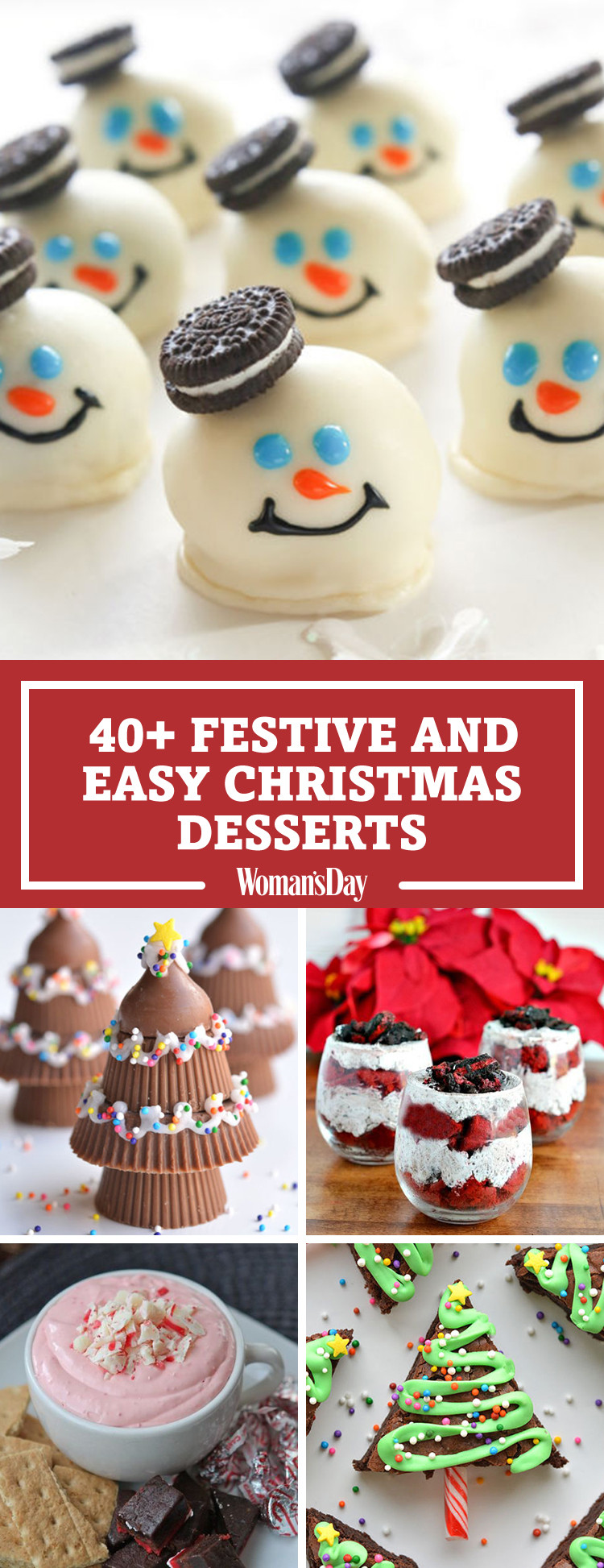 Easy Holiday Dessert Recipes  57 Easy Christmas Dessert Recipes Best Ideas for Fun