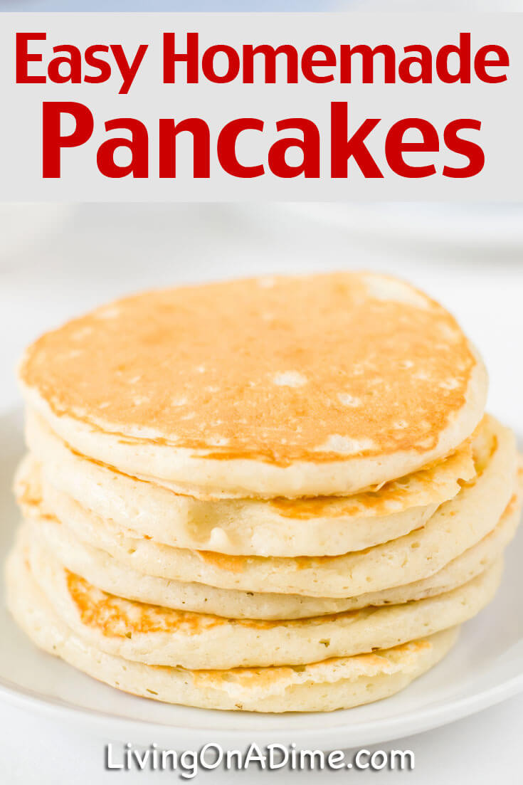Easy Homemade Pancakes  Easy Homemade Pancakes Recipe Living on a Dime