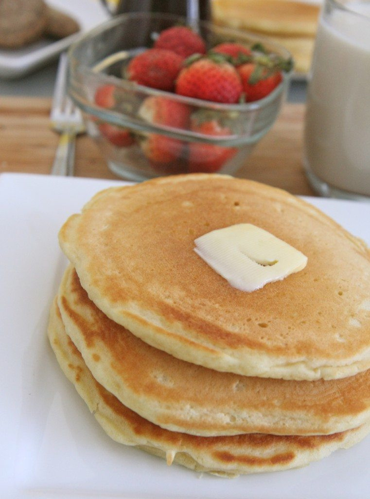 Easy Homemade Pancakes  Fluffy Buttermilk Pancakes Recipe