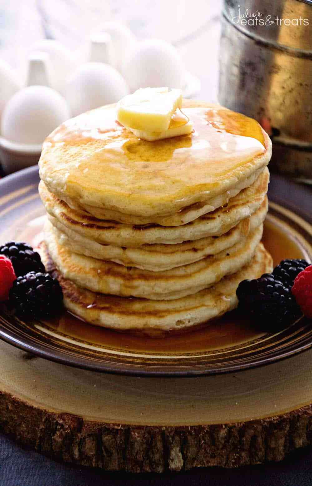 Easy Homemade Pancakes  Easy Homemade Pancakes Recipe VIDEO Julie s Eats & Treats