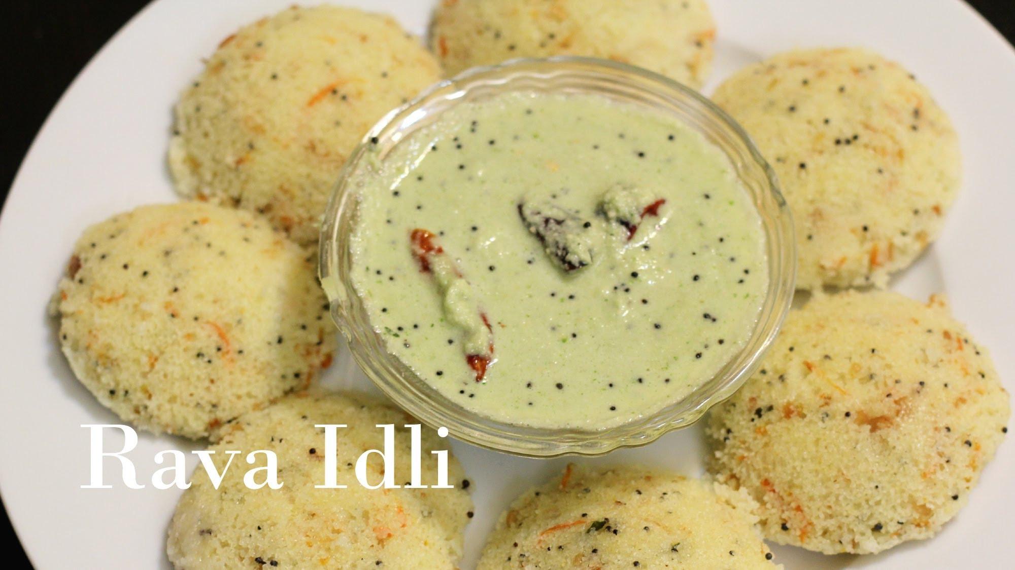 Easy Indian Breakfast Recipes  Rava Sooji Idli Semolina Dumplings Recipes Quick Easy