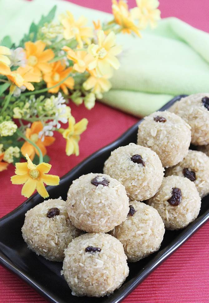 Easy Indian Dessert Recipes  Oats laddu recipe