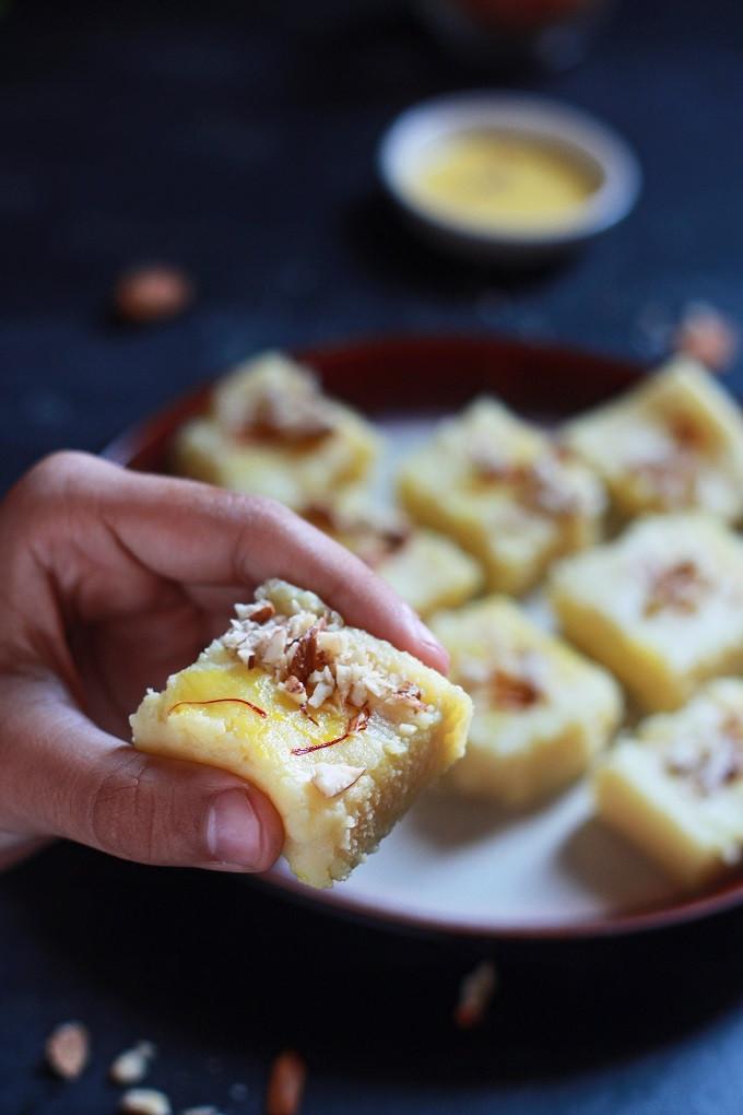 Easy Indian Dessert Recipes  Simple Milk Powder Burfi Recipe Fas Kitchen