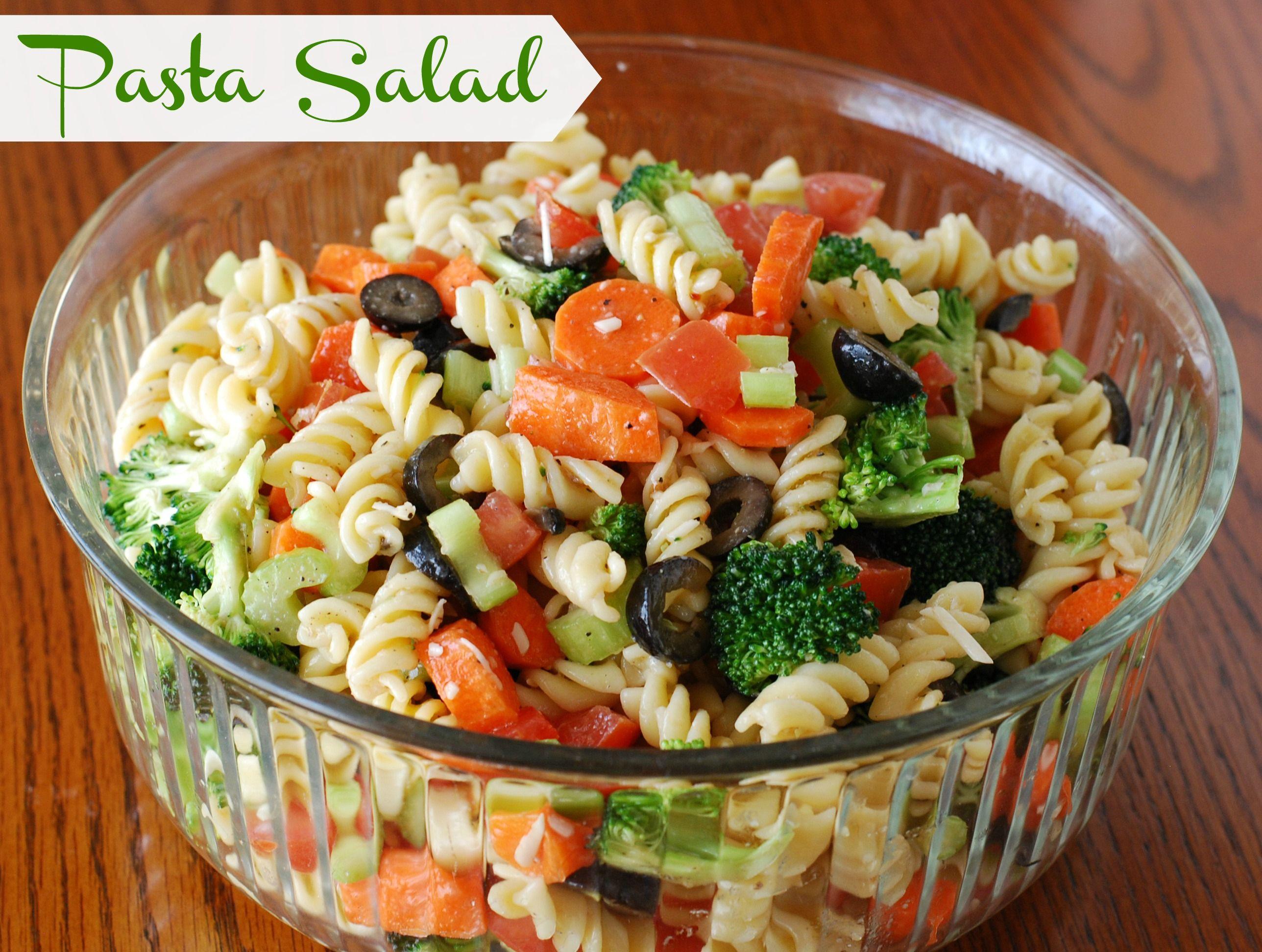 Easy Italian Pasta Salad  Easy Italian Pasta Salad Opskrift