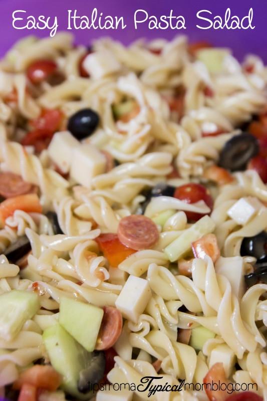 Easy Italian Pasta Salads  Easy Italian Pasta Veggie Salad