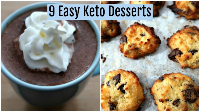 Easy Keto Dessert  9 Easy Keto Dessert Recipes Quick Low Carb Ketogenic