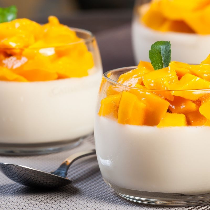 Easy Light Desserts  This mango panna cotta recipe is very quick and easy to