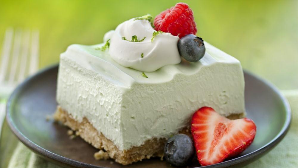 Easy Light Desserts  Light and Fluffy Key Lime Dessert Squares recipe from