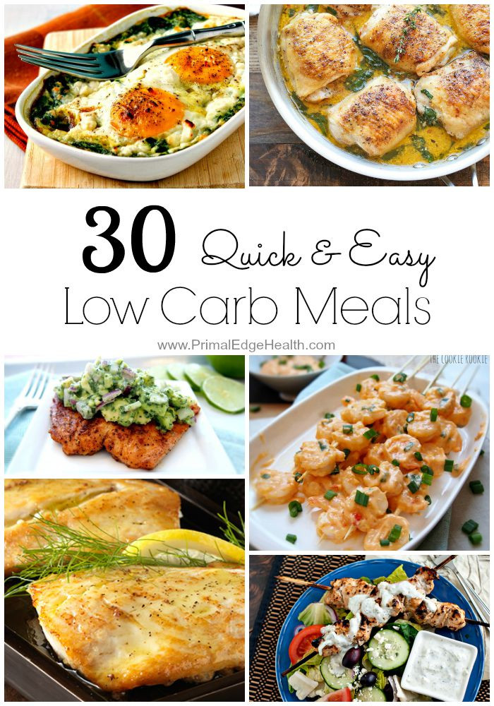 Easy Low Carb Dinners  30 Quick & Easy Low Carb Meals Primal Edge Health