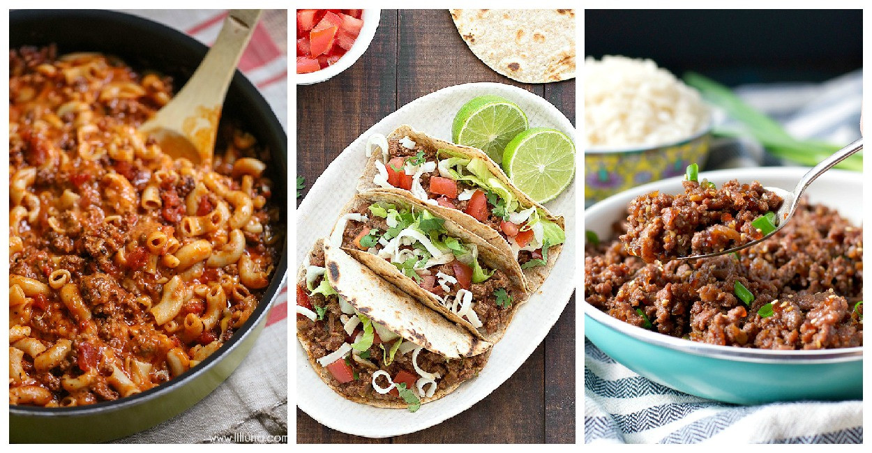 Easy Meals With Ground Beef  easy dinner recipes with ground beef