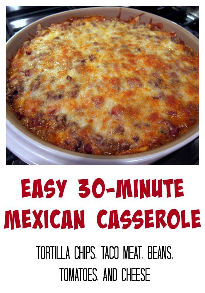 Easy Mexican Casserole  De 25 bedste idéer inden for Easy mexican casserole på