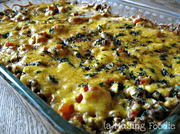 Easy Mexican Casserole  Simple Mexican Ground Beef Casserole