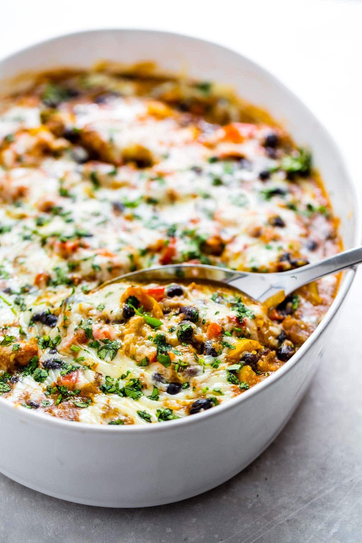 Easy Mexican Casserole  Easy Mexican Chicken Quinoa Casserole Recipe Pinch of Yum