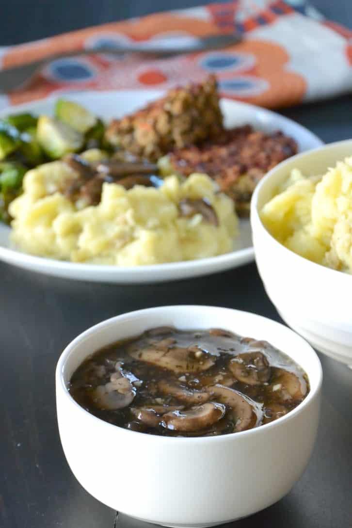 Easy Mushroom Gravy  Easy Vegan Mushroom Gravy Gluten Free Veggies Save The Day