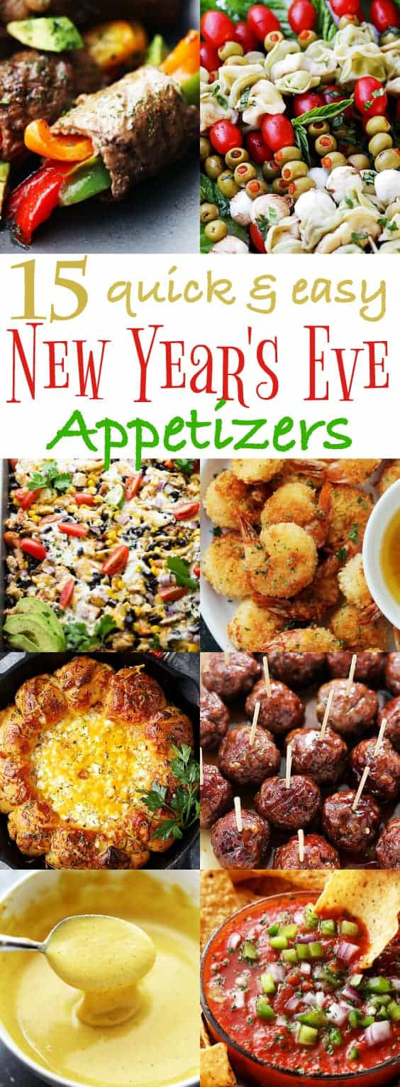 Easy New Years Appetizers  15 Quick and Easy New Year s Eve Appetizers Recipes