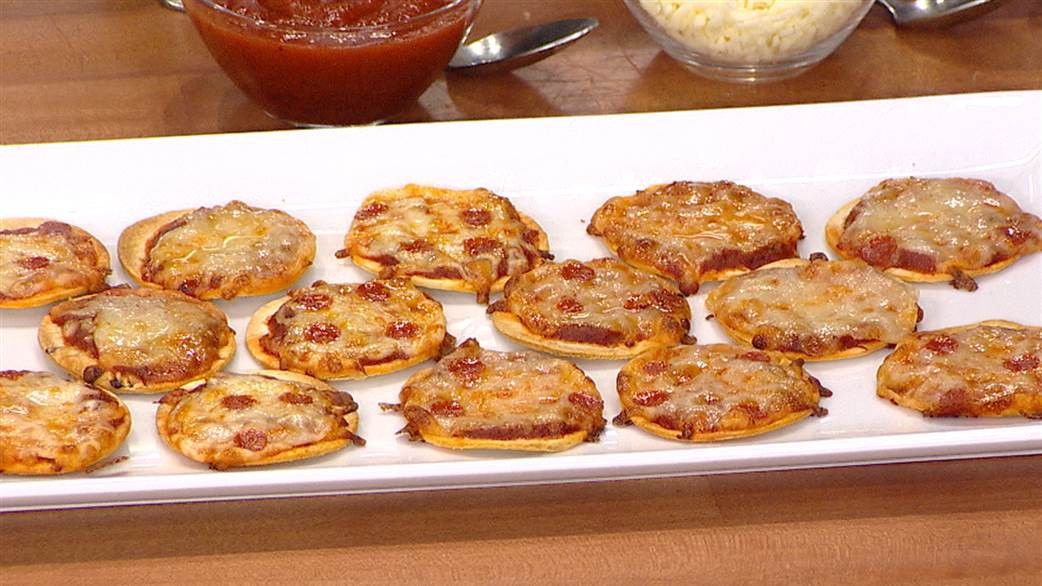 Easy New Years Appetizers  Mini tortilla pizzas shrimp cocktail Easy New Year's
