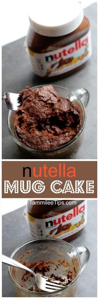 Easy Nutella Dessert  Super easy to make Nutella Mug Cake Recipe