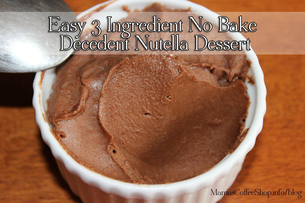 Easy Nutella Dessert  Easy 3 Ingre nt No Bake Decedent Nutella Dessert Recipe
