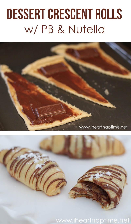 Easy Nutella Dessert  Dessert Crescent Rolls EASY recipe