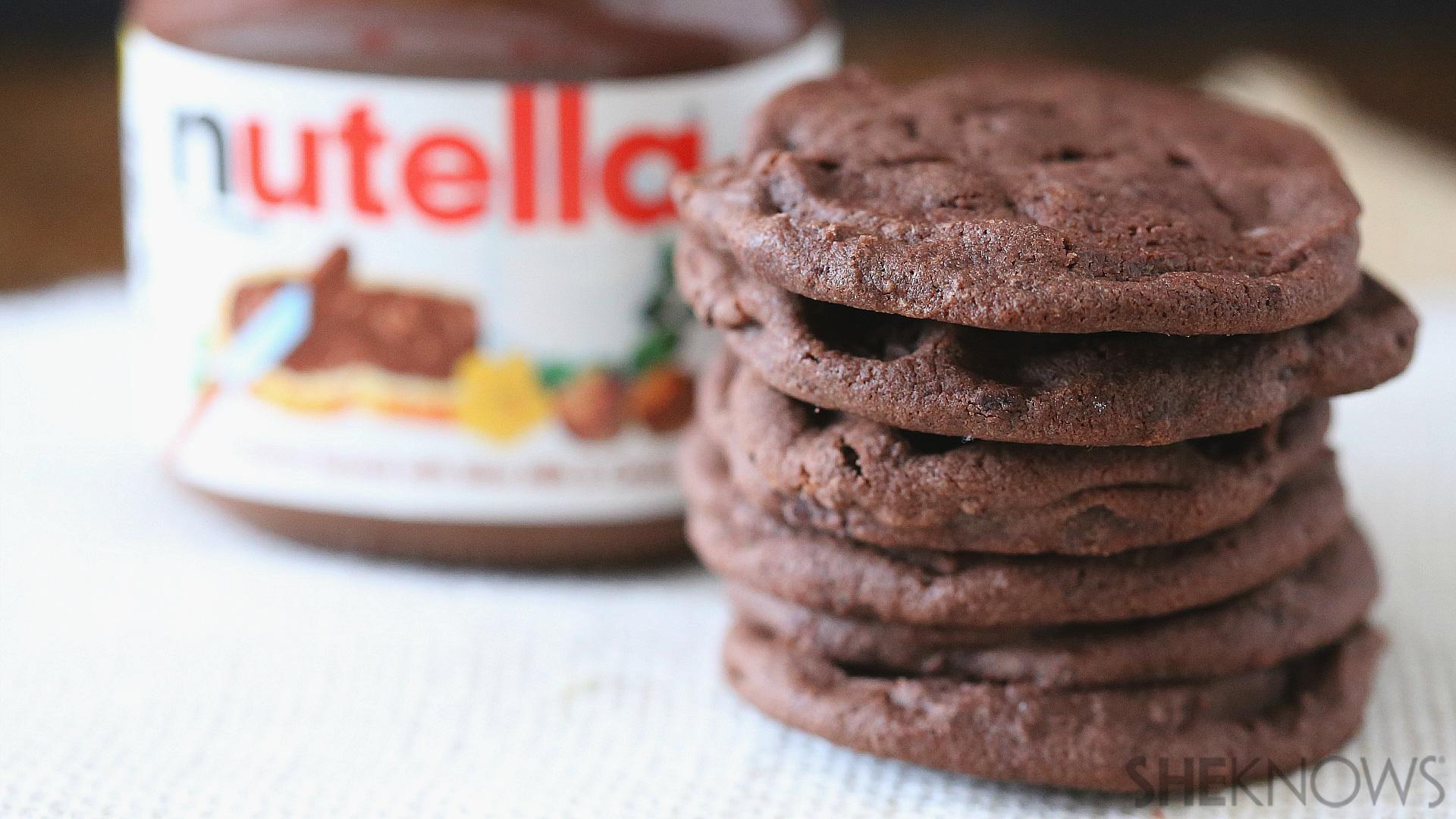 Easy Nutella Dessert  3 ingre nt Nutella cookies almost as easy as eating it