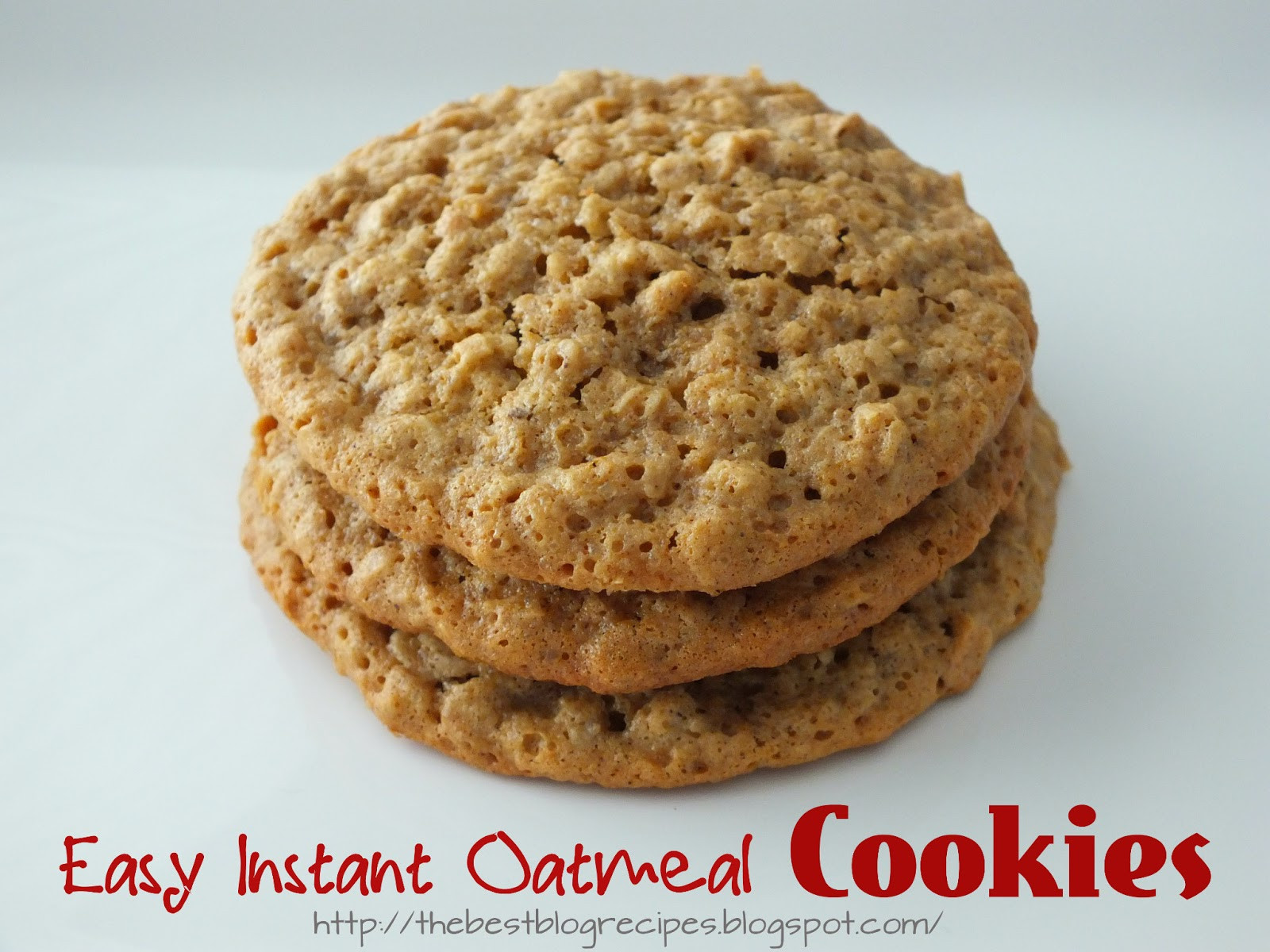 Easy Oatmeal Cookies  The Best Blog Recipes Easy Instant Oatmeal Cookies