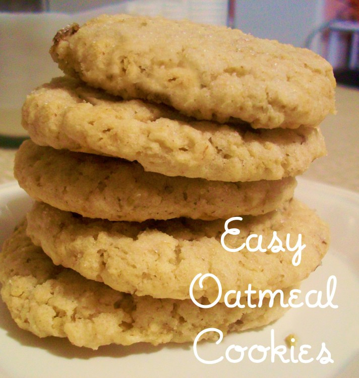 Easy Oatmeal Cookies  oat cookies recipe easy