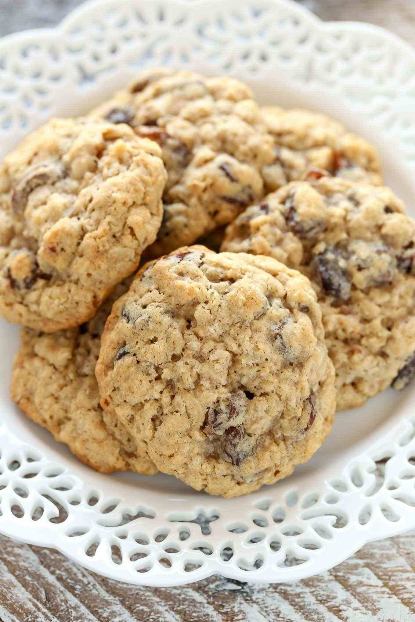 Easy Oatmeal Cookies  Soft and Chewy Oatmeal Raisin Cookies