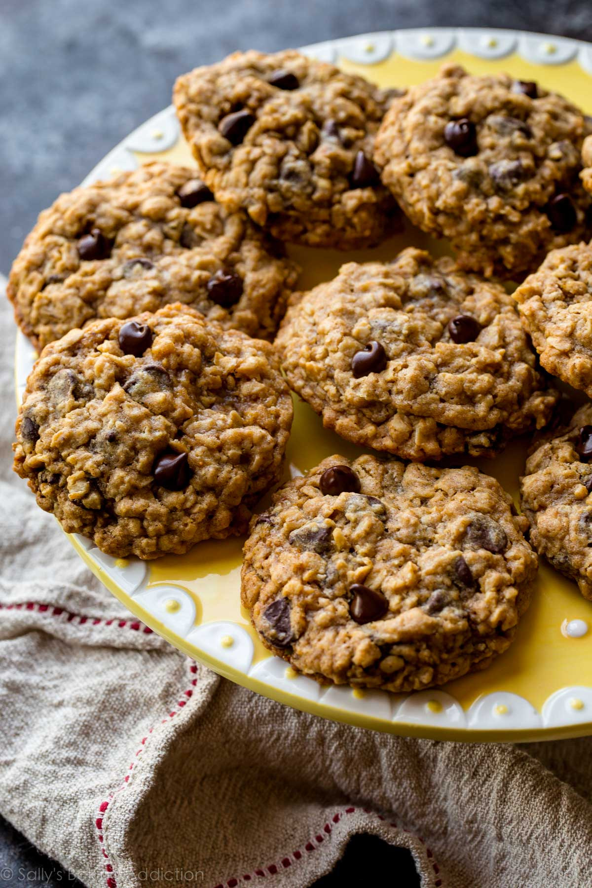 Easy Oatmeal Cookies  easy chewy oatmeal chocolate chip cookies