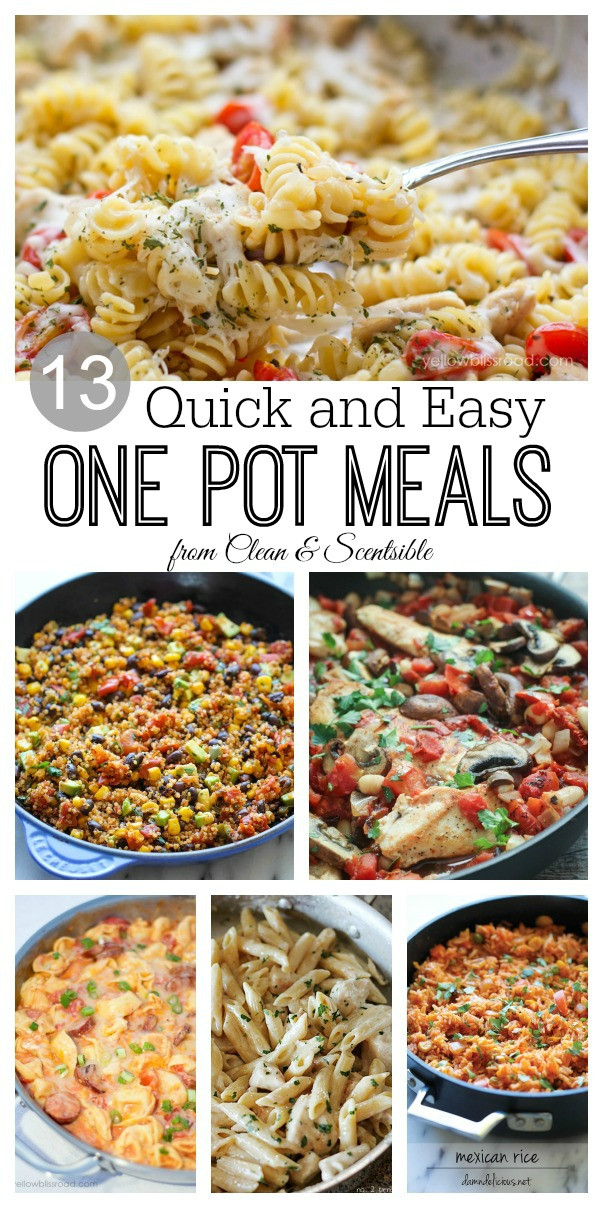Easy One Pan Dinners  e Pot Meals Clean and Scentsible