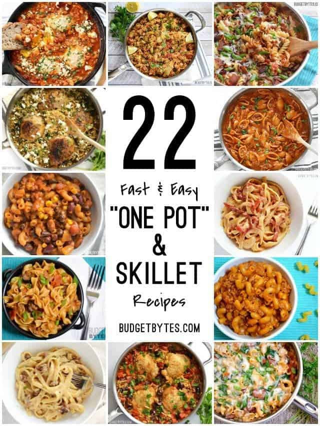 Easy One Pan Dinners  22 Fast and Easy e Pot Meals Bud Bytes